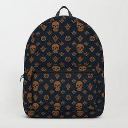 Golden skulls Seamless Pattern Backpack