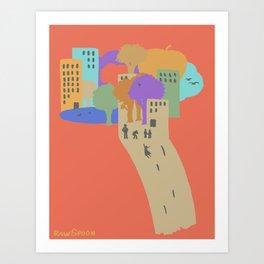 City Sliding Art Print