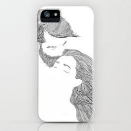 Tender Love, in transparent/black iPhone Case