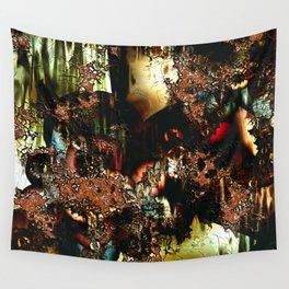 Rainy City Street Abstract Wall Tapestry
