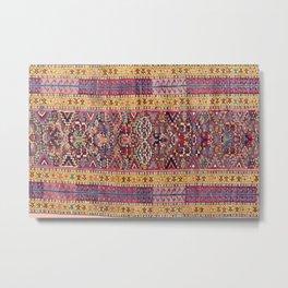 Kolyai Long Antique Persian Kurdish Rug Metal Print