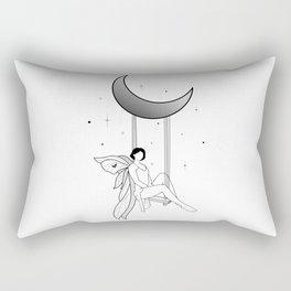 Fairy on a moon swing Rectangular Pillow