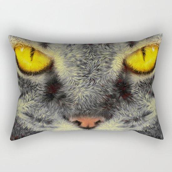 Gato Loco Rectangular Pillow