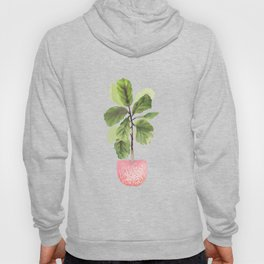 Fiddle-Leaf Fig (Watercolor) Hoody