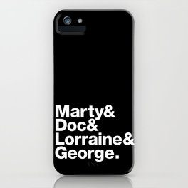 Back to the future rock stars iPhone Case