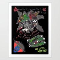 inner demons Art Prints featuring Inner Demons by Becky Doyon