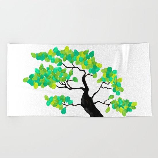 Organic Bonsai Beach Towel