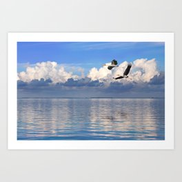 On The Wings Of The Wind Art Print