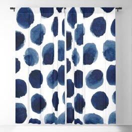 Watercolor polka dots Blackout Curtain