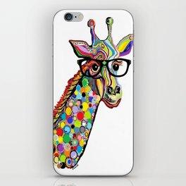 Hipster Giraffe iPhone Skin