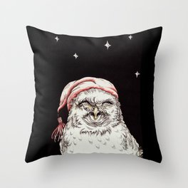 Good Night, Little Owl Throw Pillow