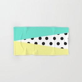 Color Block & Polka Dots Hand & Bath Towel