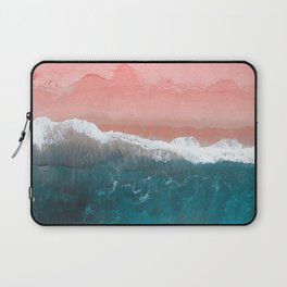 Turquoise Sea Pastel Beach II Laptop Sleeve
