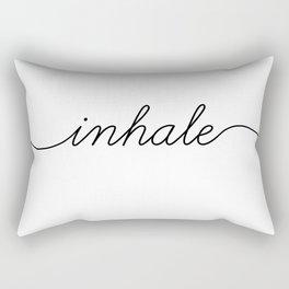 inhale exhale (1 of 2) Rectangular Pillow