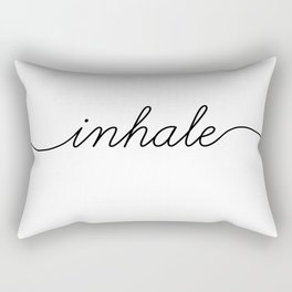 inhale exhale (1 of 2) Rectangular Pillow