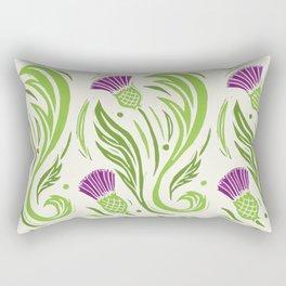 Thistles - Color Pattern Rectangular Pillow
