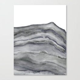 Watercolor Agate in Gray Canvas Print
