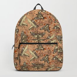 Death's-head hawkmoth rust Backpack