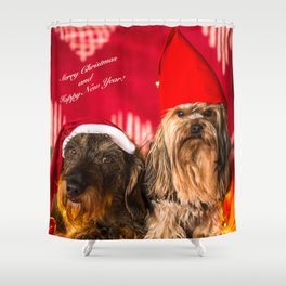 Merry Christmas and Happy New Year! Shower Curtain