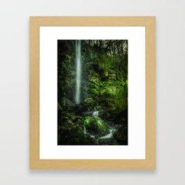 Mallyan in Green Framed Art Print