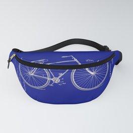 Vintage Bicycle Patent Blueprint Fanny Pack