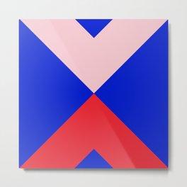 Minimal X Pink & Royal Metal Print