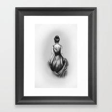 polite girl Framed Art Print