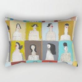 Treinta y Seis Mujeres Rectangular Pillow