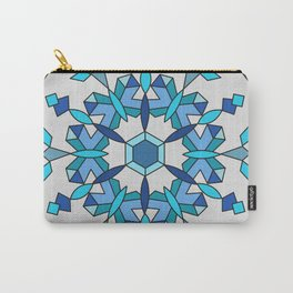 Moth's Crystal Snowflake - Light Blue Version Carry-All Pouch