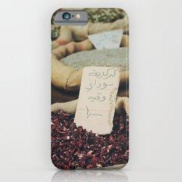 Fresh market herbs Medina Amman, Jordan. Travel print - film photography wall art. Art print. Colourful iPhone Case