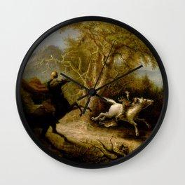 John Quidor Legend of Sleepy Hollow Headless Horseman Pursuing Ichabod Crane 1858 Wall Clock