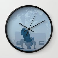 lawyer Wall Clocks featuring Jurassic Park poster - feat. Donald Gennaro by Peter Cassidy