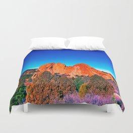 Bright Mountains of Colorado Duvet Cover