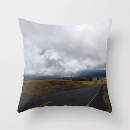 Highway in Big ISland, Volcano Island of Hawaii USA Throw Pillow