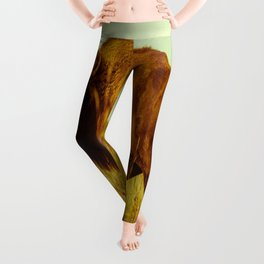 Vintage Bison - Buffalo on the Oklahoma Prairie Leggings
