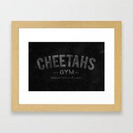 Gym rat - Cheetahs gym Framed Art Print