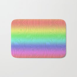 Groovy Pastel Rainbow Bath Mat