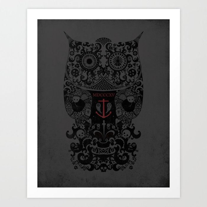 The Old Owl Art Print