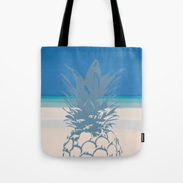 Pineapple Tropical Beach Design Tote Bag