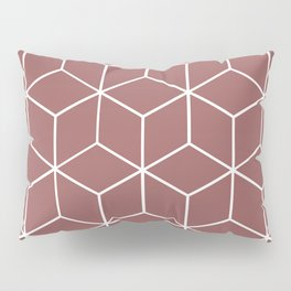 Cube Geometric 03 Dark Pink Pillow Sham