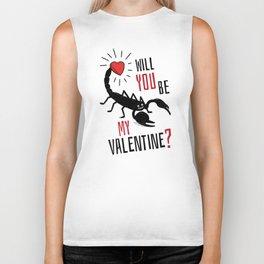 Will You Be My Valentine? Scorpion Love. Biker Tank