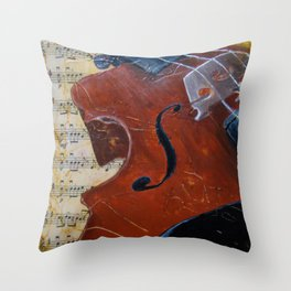 Heart Strings Throw Pillow