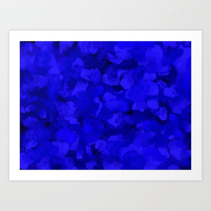 Rich Cobalt Blue Abstract Kunstdrucke