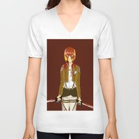 snk V-neck T-shirts featuring Bloody Armin by Paula Urruti