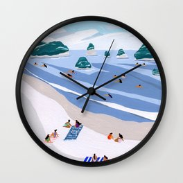 Island Dots Wall Clock