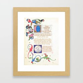 With that sweet moon language Framed Art Print