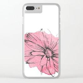 flor rosa Clear iPhone Case