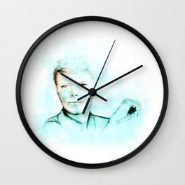 Abstract Bowie with a Cig 2 Wall Clock