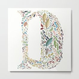 D of Leaves Metal Print