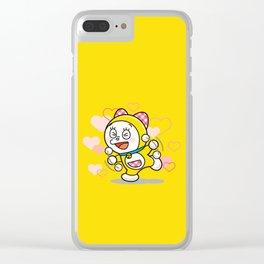Dorami Love Clear iPhone Case